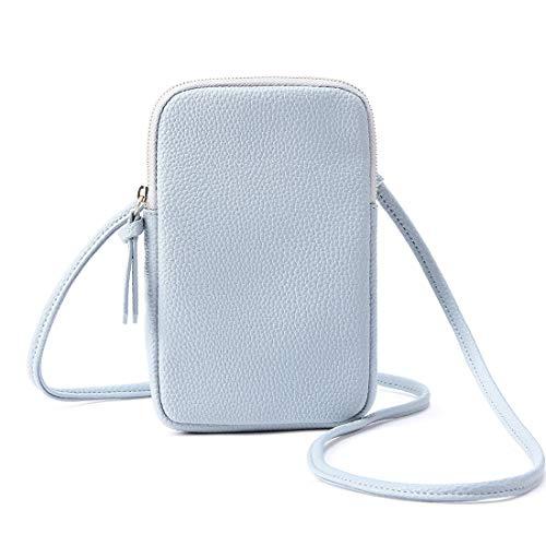 Schultertasche Ledertasche Mini-Umhängetasche Handtasche, klein, Taschen für Mobiltelefon, Portmonee, Karten und Reisepass, Passport Holder -