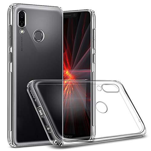 QULLOO Huawei Honor Play Cover Custodia, Custodia Trasparente Morbida TPU [Ultra Leggere e Chiaro] Silicone Ultra Sottile Case per Huawei Honor Play