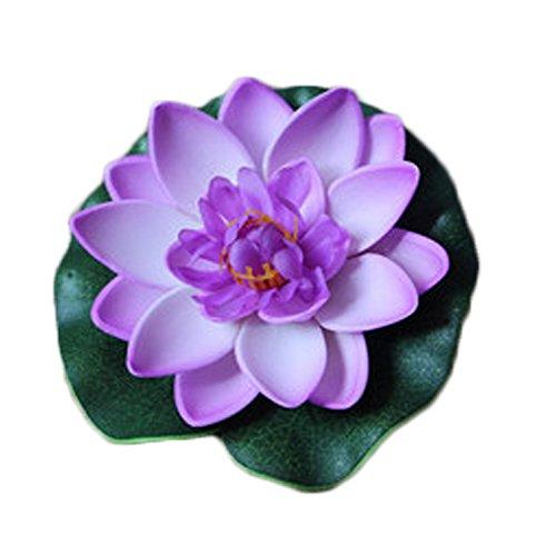 Westeng Künstliche Blumen Schwimmend Lotusblüte Wasserpflanzen Seerose Deko Hohe Simulation Nymphaea fisch tank aquarium simulation Seerose