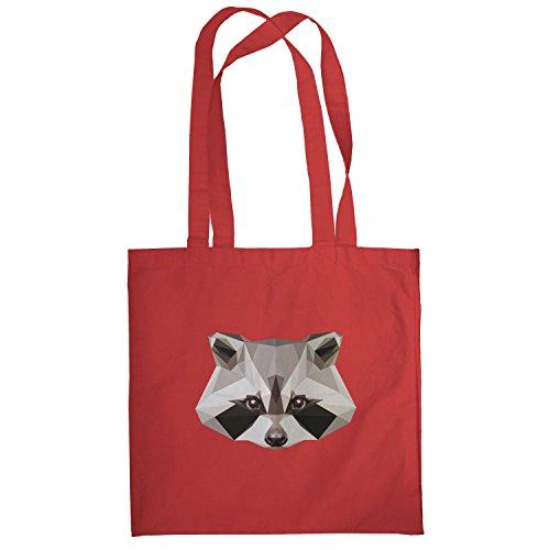 Texlab–Poly Racoon–sacchetto di stoffa Rot