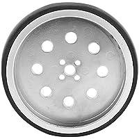 Rueda de metal de robot Fafeicy 0.3in con neumático de neopreno Piezas de robot industrial Diámetro interno del agujero de 8 mm con buena tracción