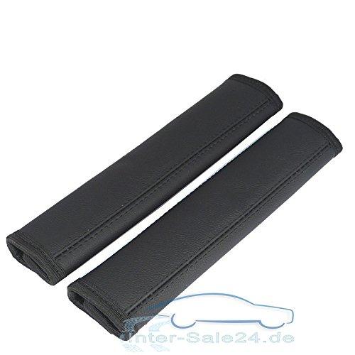 Protecteur de sangle-noir-lot de 2 protège-ceinture 100% cuir véritable