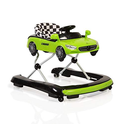 Lauflernhilfe Cabrio 2 in1 Auto-Design höhenverstellbar Armaturenbrett mit Licht grün