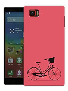 "Humor Gang Minimal Bicycle - Red Printed Designer Mobile Back Cover For ""Lenovo Vibe Z2 Pro K920"" (3D, Matte Finish, Premium Quality, Protective Snap On Slim Hard Phone Case, Multi Color)"