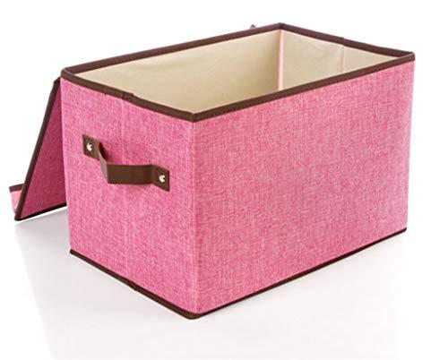 Gstrand Baumwoll Aufbewahrungsbox, Bücher Aufbewahrungsbox, Überdachte Mobile Aufbewahrungsbox, Kleider-Snack-Aufbewahrungsbox, Faltbare Veredelungs Box,Pink,S