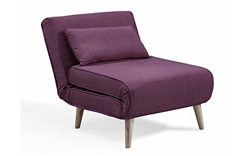 Mobilier Deco Fauteuil scandinave Convertible en Tissu Violet