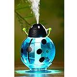 SHIQ Grad-Umdrehungs-Käfer-Aromatherapie-Luftreiniger-Luftbefeuchter Mit LED-Licht U. Sauger-Unterseite Für Haus/Büro/Auto,Blau,Luftbefeuchter