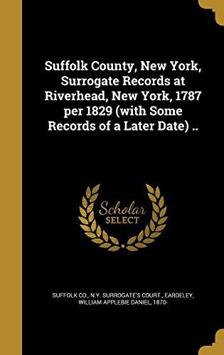 SUFFOLK COUNTY NEW YORK SURROG
