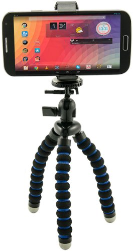 Arkon MG2TRI Flexible Stativ Mobile-Grip 2 Halter für Apple iPhone 5 5S 5C, Samsung Galaxy S3 S4 S5, Google Nexus 5, The New HTC One M8 and HTC One, LG G2, Nokia Lumia 1020, Motorola Moto X, Sony Action Cam, Sony POV HD Flash Memory Camcorder