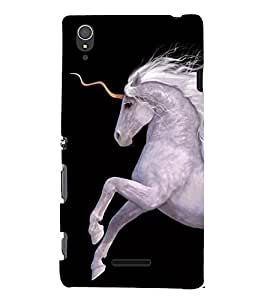 Print Masti Designer Back Case Cover for Sony Xperia T3 (Animal hoof riding Strong Amazing)