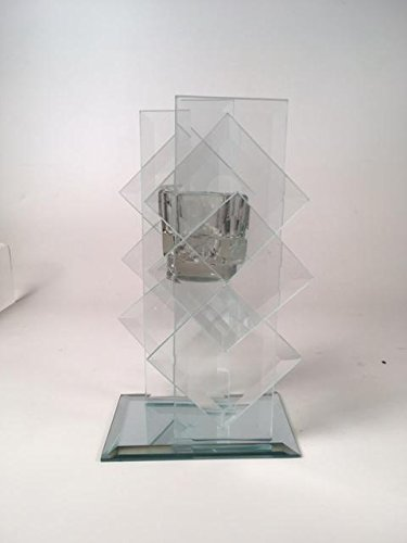 Cristal vela soporte escalonado