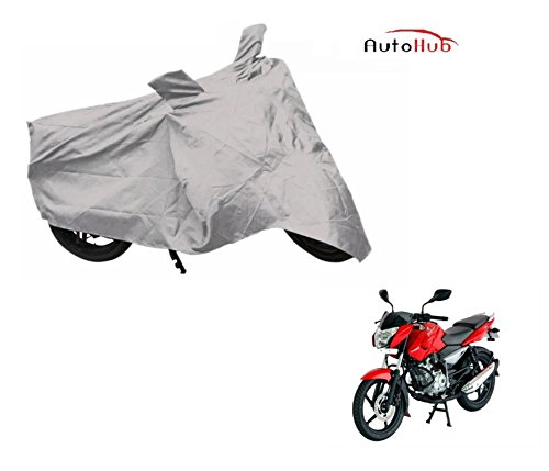 Auto Hub Premium Silver-Matty Bike Body Cover For Bajaj Pulsar 135 LS DTS-i  available at amazon for Rs.235