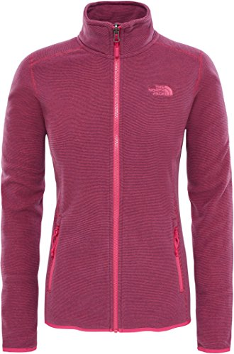 The North Face North Face W 100 GLACIER FULL ZIP JACKE, Damen, Pink – (Petticoat pink stripe)