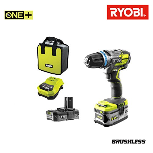Preisvergleich Produktbild Bohrschrauber Schlagbohrmaschine Brushless Ryobi 18V OnePlus2Akkus lithiumplus 5Ah2AHr18pdbl-ll52s