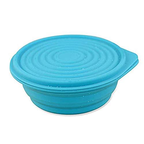 Faltbare Lunchbox, Square Silicone Collapsible Food Storage Container, wiederverwendbar, BPA Free Faltlunch Bento Box geeignet für Picnics, Homes, Schulen, Etc,Blue,1PCS Square Food Storage Set