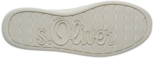 s.Oliver 23625, Scarpe da Ginnastica Basse Donna Bianco (White Nappa)