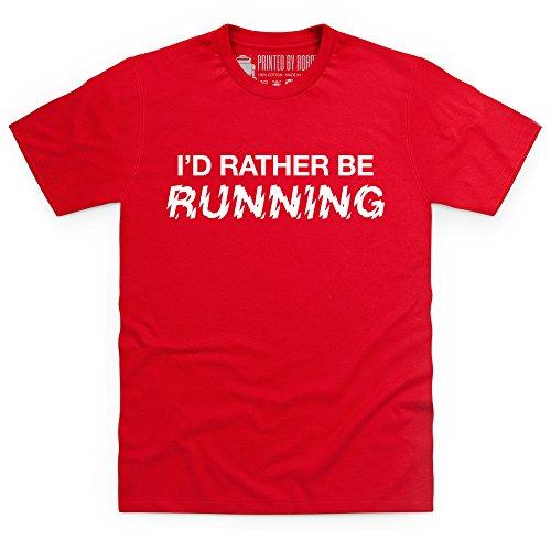 I'd Rather Be Running T-Shirt, Herren Rot