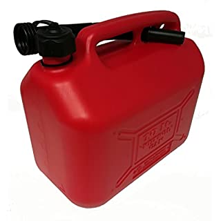 coamer bg10l Plastic Jerry Can for Petrol, Red, 10Litres