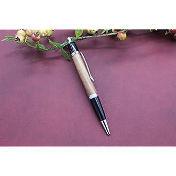 Edler Handgedrechselter Klick Kugelschreiber aus Holz Nussbaum Absolutes Unikat