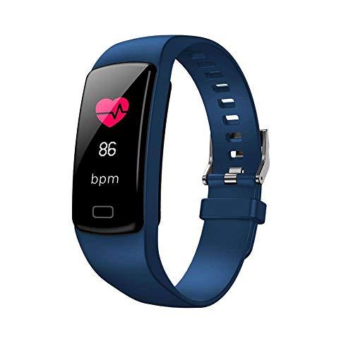 TechCode Bluetooth Fitness Armband Uhr mit Pulsmesser, Wasserdicht IP67 Fitness Tracker Schrittzähler Aktivitätstracker Herzfrequenz Smart Armbanduhr Pulsuhr Schlafmonitor Kalorienzähler für Damen