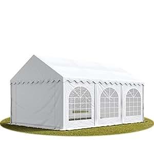 Tente de réception 3x6 m en blanc Chapiteaux mariages - PREMIUM - 500g/m² PVC - cadre del sol