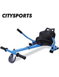 CITYSPORTS Hoverkart con Asiento, Hoverkart Universal Fijación Ajustable, Compatible con Hoverboard de 6.5