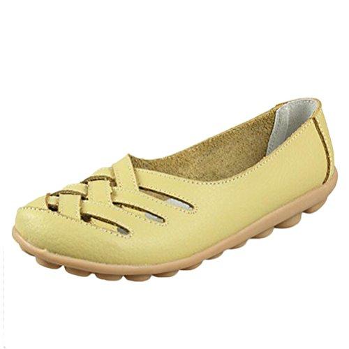 Vogstyle Mocassins Femmes Casuel Sandales Plat Chaussures Confort Vert Clair