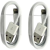 2x Original iPrime® 1 Meter Lightning USB Kabel Ladekabel Datenkabel für Apple iPhone 7, iPhone 7 Plus, iPhone 6/6s, iPhone 6 Plus/6s Plus, iPhone 5/5s/5c, iPad Pro, iPad 4, iPad Air 1/2, iPad Mini 1-4 und iPod in Weiß - 1m