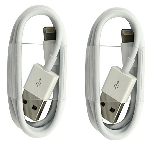 2x Original iPrime® 1 Meter Lightning USB Kabel Ladekabel Datenkabel für Apple iPhone 7, iPhone 7 Plus, iPhone 6/6s, iPhone 6 Plus/6s Plus, iPhone 5/5s/5c, iPad Pro, iPad 4, iPad Air 1/2, iPad Mini 1-4 und iPod in Weiß - 1m Ipod Ladegerät Kabel