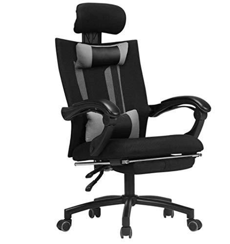 L&WB Stühle Schwarz-Weiß Bürostuhl Home Mesh Mit Rückenlehne Freizeit Drehstuhl Ergonomische Computer-Stuhl Mit Schwenk Sitz Innenraum