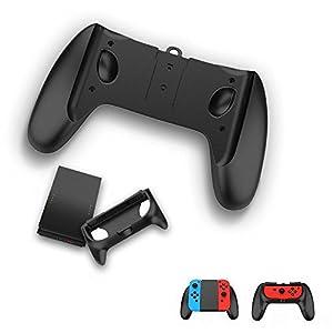 TealTech Nintendo Switch Joy-Con-Aufladehalterung 2-in-1 2-Wege Joy-Con Kits mit Joy-Con Ladegriff (Schwarz)