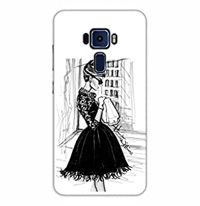 Happoz ASUS Zenfone 3 Deluxe (ZS570KL) Cases Back Cover Mobile Pouches Shell Hard Plastic Graphic Armour Premium Printed Designer Cartoon Girl 3D Funky Fancy Slim Graffiti Imported Cute Colurful Stylish Boys D194