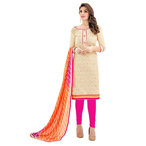Applecreation-Womens-Cotton-Salwar-Suit-Dress-Material-21AKS2103AOff-WhiteFree-Size