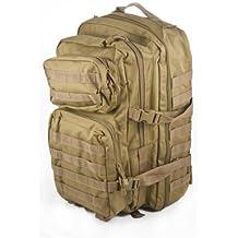 Mil-Tec Military Army Patrol Molle Assault Pack Tactical Combat Rucksack Backpack Bag 36L Coyote Tan by Miltec