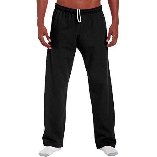 Gildan - Jogginghose mit offenem Beinabschluss / Black, M