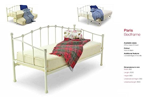 Stunning Paris Day Bed in White 3 Ft