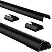 Hama 83170 - Organizador de cable, color negro