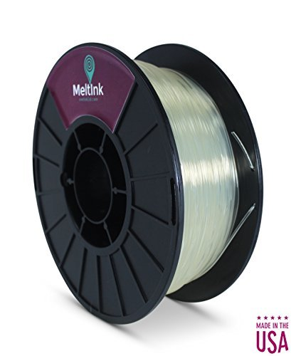 MeltInk3D PLA Filament for 3D Printers - 3mm (2.85mm) PLA Filament - 1 kg(2.2 lb) - Made in USA - Clear