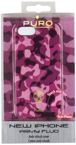 Puro IPC5ARMYFLUO2 ARMY Skull LOGO Cover iPhone 5 PINK
