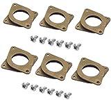 Liuer 6 Stücke NEMA 17 Schrittmotor Schwingungsdämpfer und 12 Stück Schrauben für CNC, 3D Drucker, Dämpfer Vibration Stoßdämpfer Pad Washer