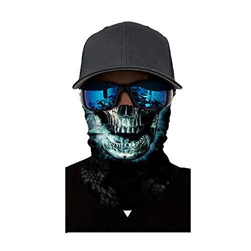 NINGSANJIN Face Shield Sturmhaube ,viele verschiedene Designs* Multiunktionstuch Maske Fishing Totenkopf Schal Skull Bandana Gesichtsmaske Halstuch Ski Motorrad Paintball Face Shields Maske (F)