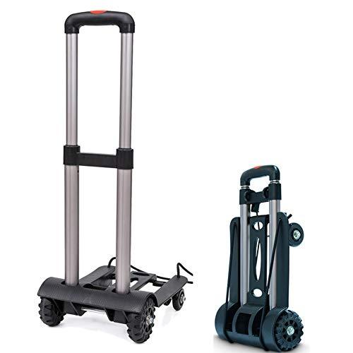 MCFNB Aluminiumlegierung Tragbare Falten Gepäckwagen Allrad-Multifunktionshaushaltsreisewagen Auto Falten Warenkorb -