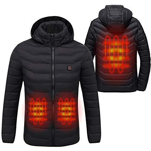 Sidiou group giacca riscaldante elettrica uomo e donna abbigliamento riscaldato usb regolabile vestiti riscaldati inverno leggero giubbotto piumino cappotto (nero, m)