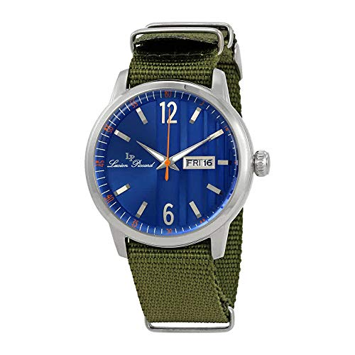 Lucien Piccard Milanese Blue Dial Mens Watch 40027-03-GRNS