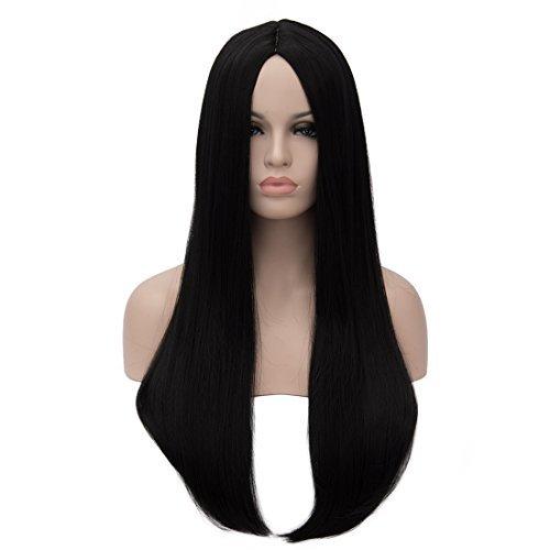 Aosler Damenperücke 61 cm lang glatt Kostüm Perücke für Mädchen Kunsthaar Cosplay Alltag Party Perücke Halloween Haar