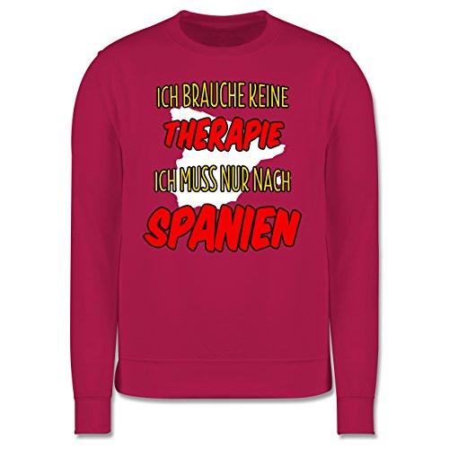 Länder - Ich brauche keine Therapie ich muss nur nach Spanien - Herren Premium Pullover Fuchsia