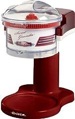 Idea Regalo - Ariete 78 Sweet Granita Macchina per Granita, Lama Acciaio Inox, Funzione Tritaghiaccio, 30 W, Rosso