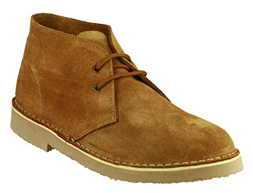 Cotswold Mens Sahara Lace Up Suede Leather Lined Desert Boot Brown Marron - Taupe