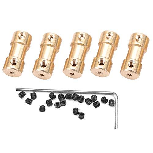 5 stücke Flexible Kupplung Stecker, Motor Kupfer Wellenkupplung Kupplung Stecker Hülse Transfer Joint Adapter für Autoräder Reifen Welle Motor(5mm-5mm)