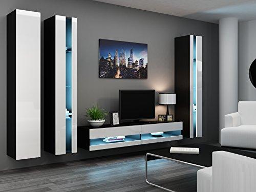 Wohnwand Migo VI Wohnzimmerschrank Hochglanz Schwarz Gebraucht Kaufen Wird An Jeden Ort In